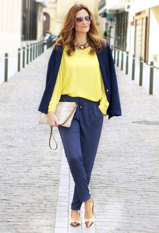 Yellow-Blouse-and-Polka-Dotted-Pants
