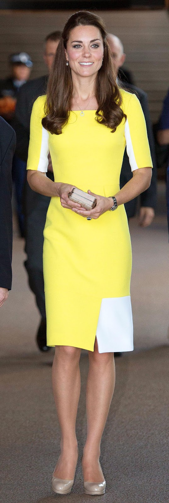 kate-Middleton-yellow-dress-new-zealand-